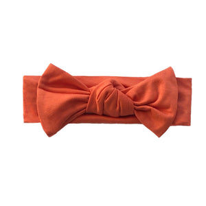 Bamboo Solid Headband in Pumpkin