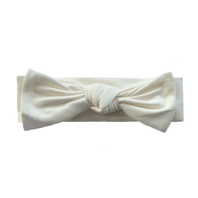 Bamboo Solid Baby Headband in Creme