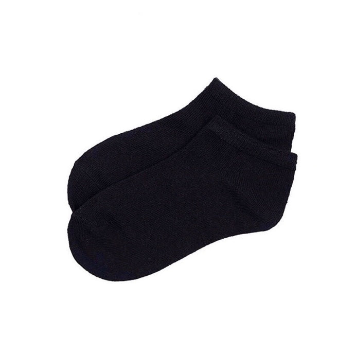 Basic Cotton Ankle Socks in Black