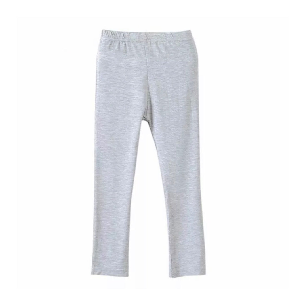 Basic Cotton Leggings in Gray