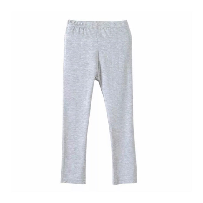 Basic Baby Cotton Leggings in Gray