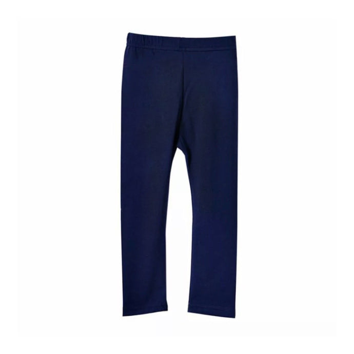 Basic Cotton Leggings in Navy