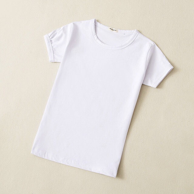 Baby Basic Cotton Crewneck T-Shirt in White