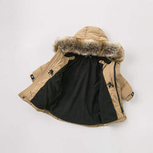 Load image into Gallery viewer, Beige Hooded Parka