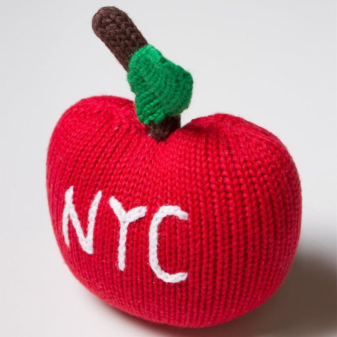 Organic NYC Big Apple Rattle