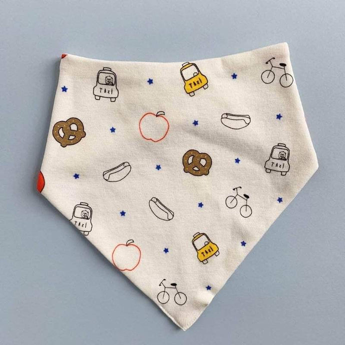 Big City Print Organic Baby Bib Kerchief