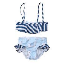 Load image into Gallery viewer, Floating Animal Stripe Baby Bikini