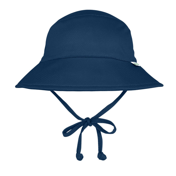 Breathable Swim and Sun Protection Bucket Hat in Navy