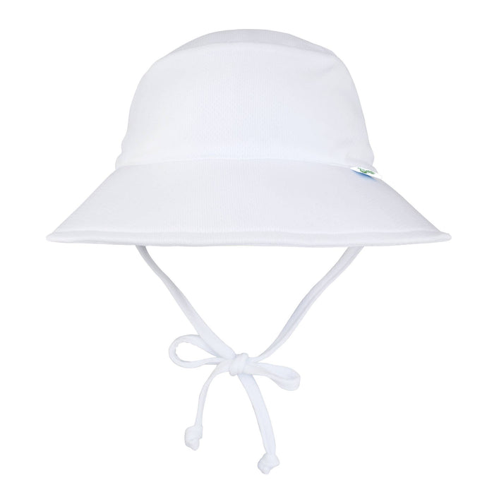 Breathable Swim and Sun Protection Bucket Hat in White