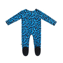Load image into Gallery viewer, Brooklyn Leopard Bamboo Snap Footed Onesie