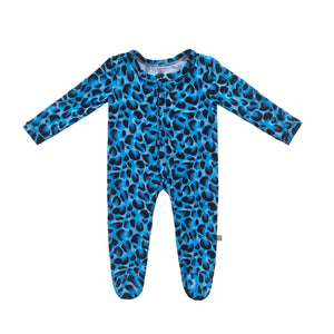 Brooklyn Leopard Bamboo Snap Footed Onesie