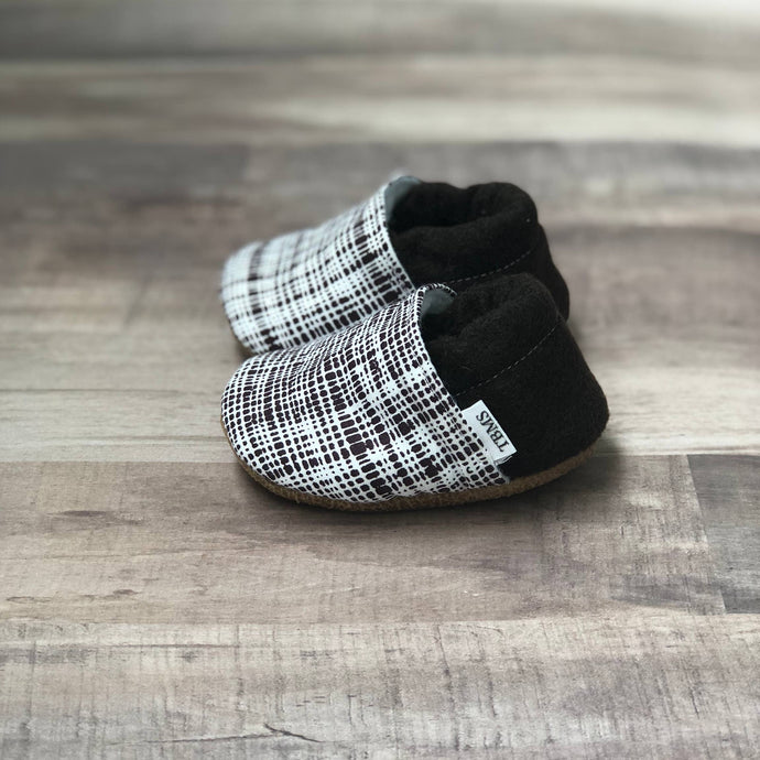 Brown Plaid Low Top Moccasins