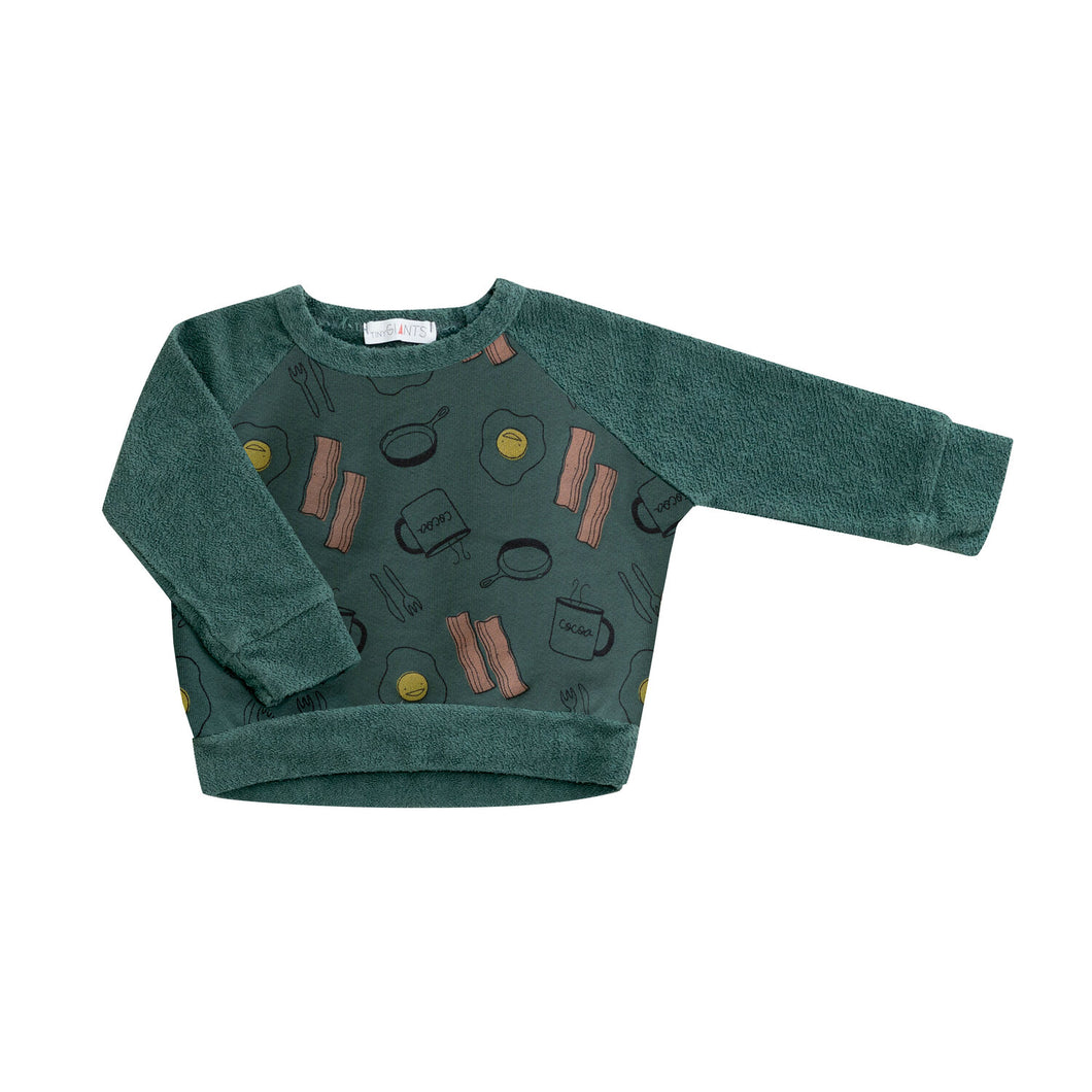 Egg and Bacon Sweatshirt in Green