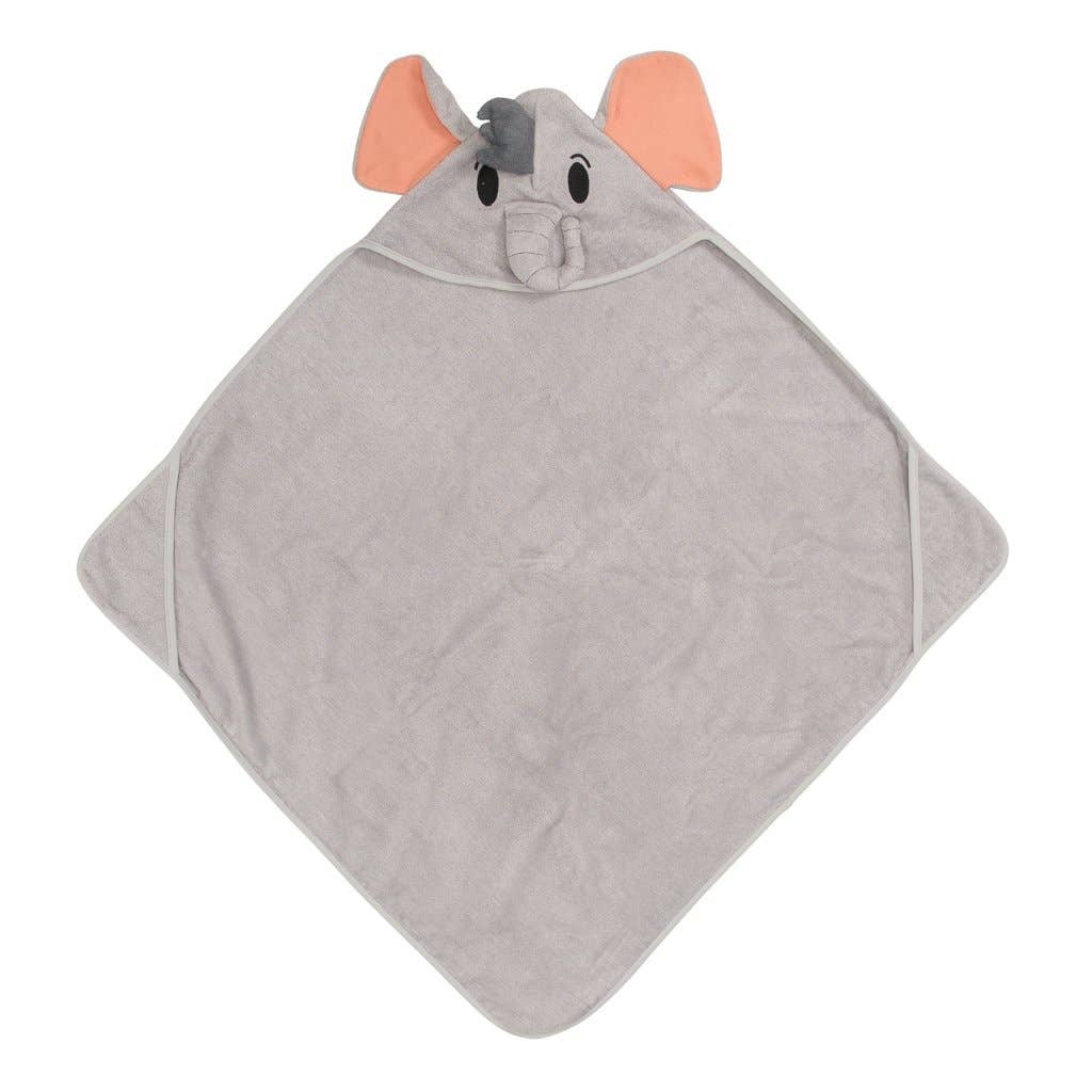 Posh Peanut Elephant Hooded Towel