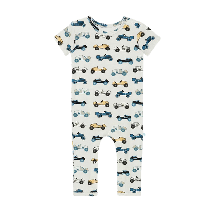 Posh Peanut Enzo Short Sleeve Footless Romper