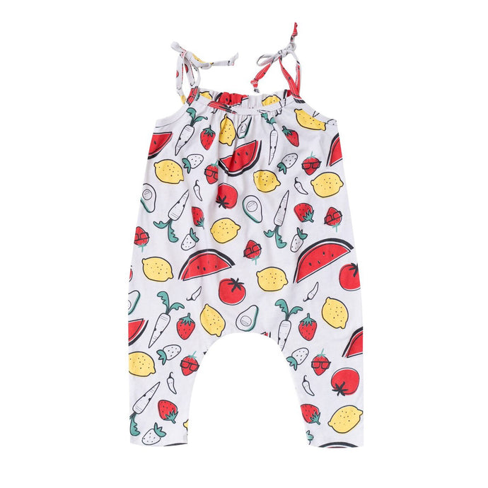 Fruit and Veggie Ruffle Romper