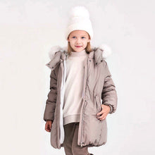 Load image into Gallery viewer, Girls' Belted Parka in Taupe