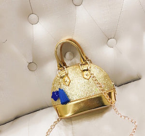 Glamorous Crossbody Mini Purse In Gold