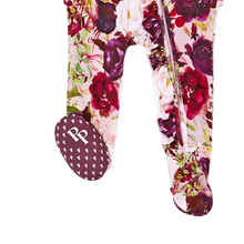 Load image into Gallery viewer, Gracie Floral Footie Ruffled Zippered One Piece