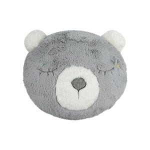 Grey Furry Plush Bear Pillow