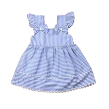 Load image into Gallery viewer, Hamptons Striped Bow Dress