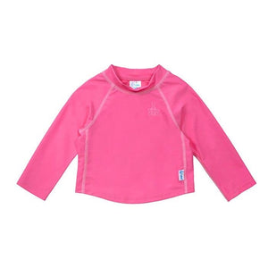 Long Sleeve Baby Rash Guard Shirt in Hot Pink
