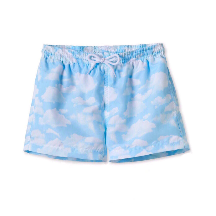 Cloudy Blue Skies Baby Swim Trunks