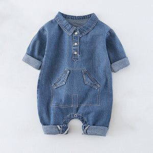 Chase Bunny Denim Collared Jumpsuit