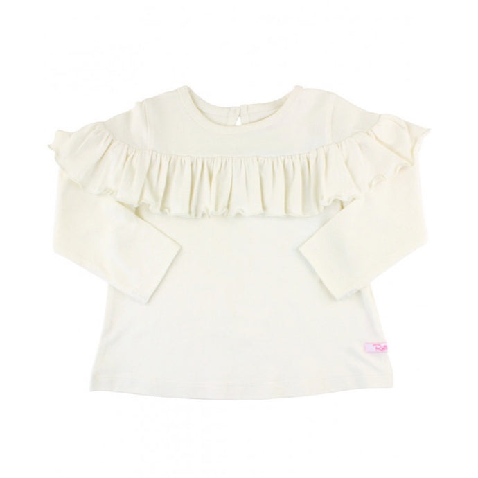 Ivory Shoulder Ruffle Top