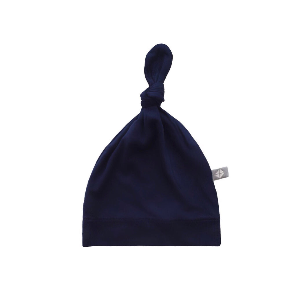 Baby Knotted Hat in Navy