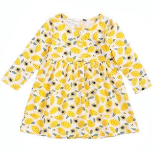 Lemon Squeeze Baby Jersey Dress