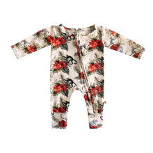 Load image into Gallery viewer, Liam Bamboo Zippered Footless Romper