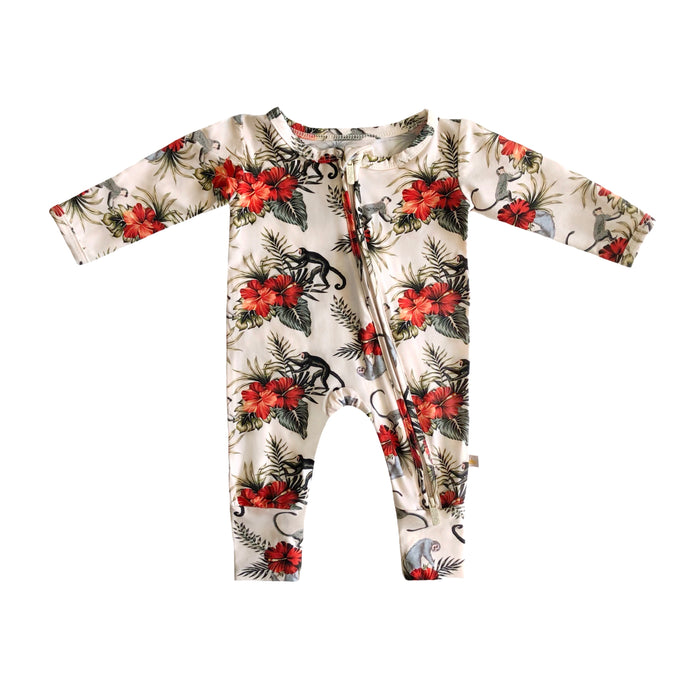 Liam Bamboo Zippered Footless Romper