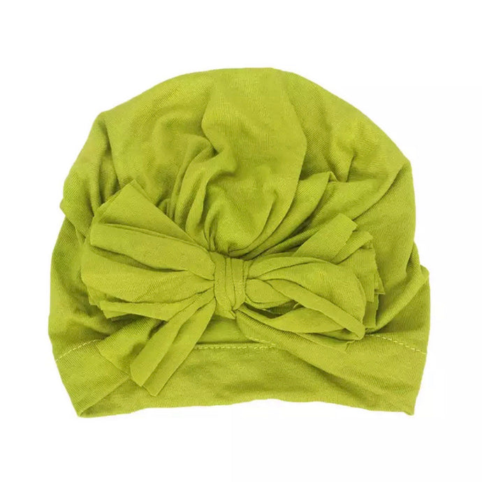 Lime Green Bow Turban