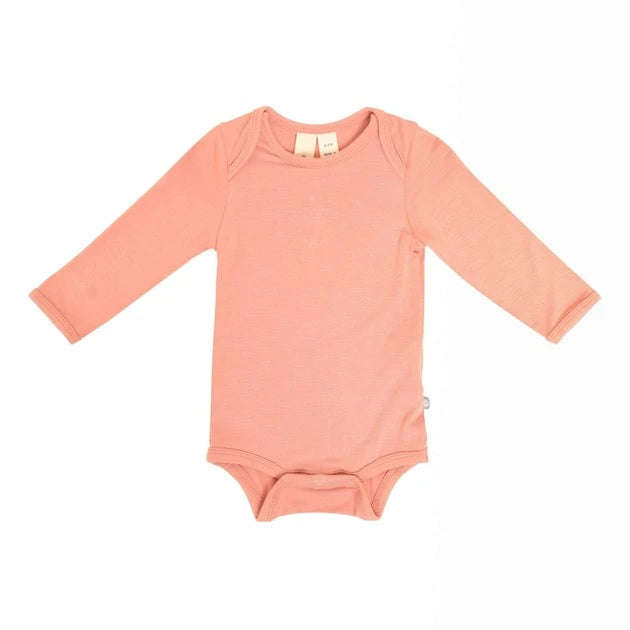 Kyte Baby Solid Long Sleeve Bodysuit in Terracotta