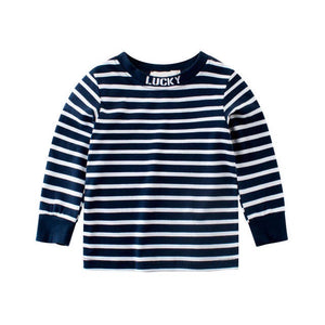 Lucky Stripe Long Sleeve Baby T-Shirt