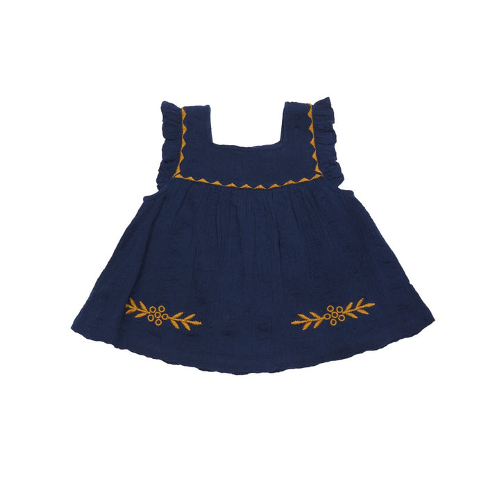 Marabelle Top in Navy Blue