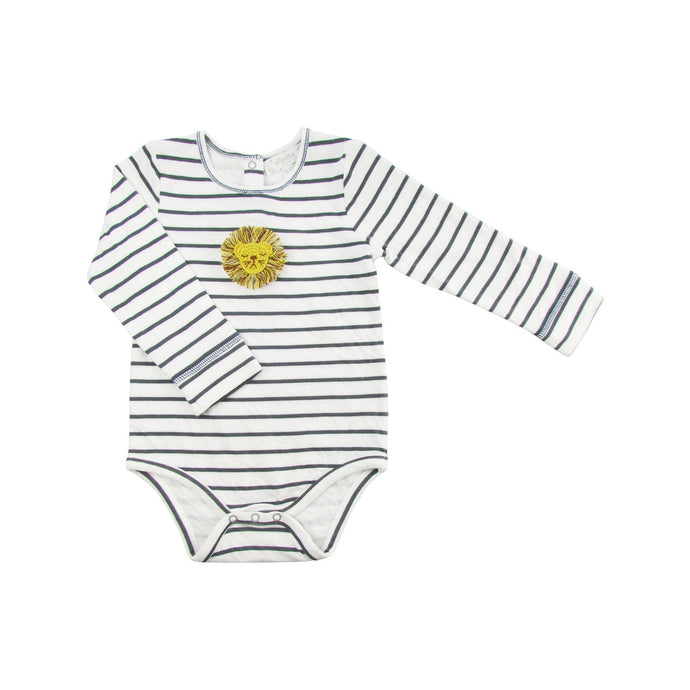 Mini Crochet Lion Striped Bodysuit
