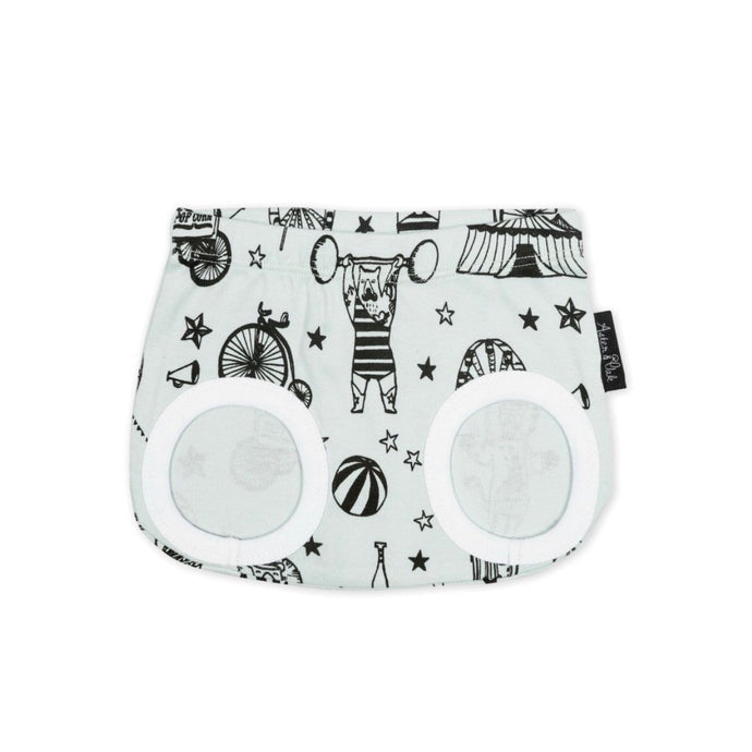 Mint Circus Nappy Diaper Cover Shorts