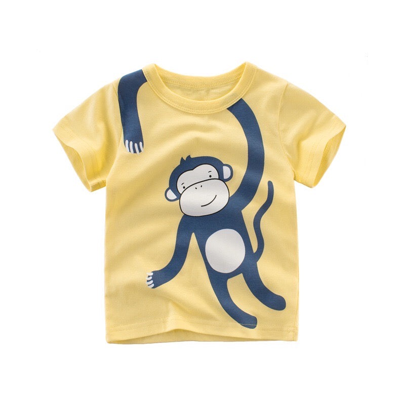 Monkey Business Baby T-Shirt in Yellow