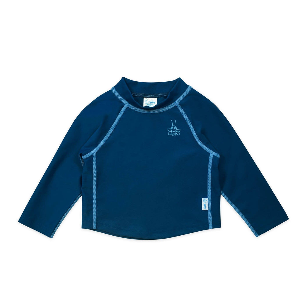 Long Sleeve Baby Rash Guard Shirt in Navy