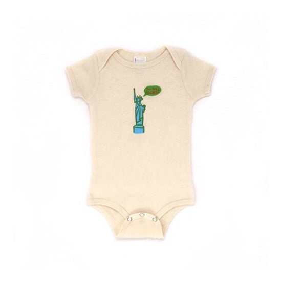 New York Rocks Statue of Liberty Organic Bodysuit