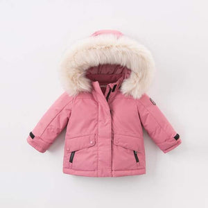 Pink Hooded Parka