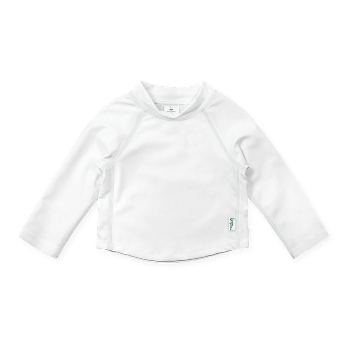 Long Sleeve Baby Rash Guard Shirt in White