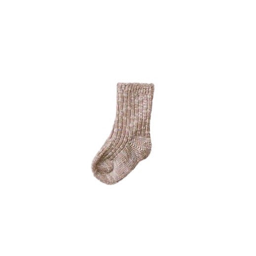 Ragg Ribbed Socks in Beige