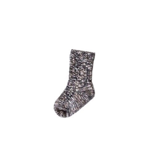 Ragg Ribbed Socks in Black