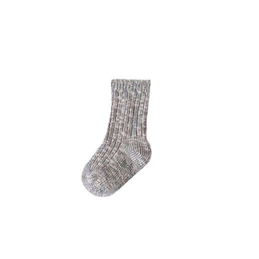 Ragg Ribbed Socks in Gray