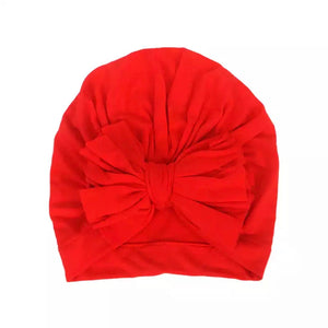 Red Bow Turban
