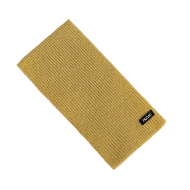 Ribbed Scarf in Mustard