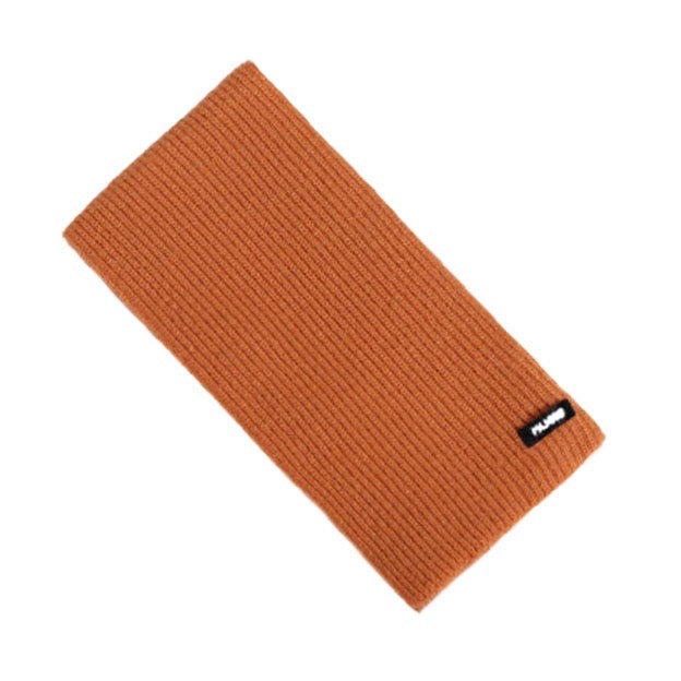 Ribbed Scarf in Orange